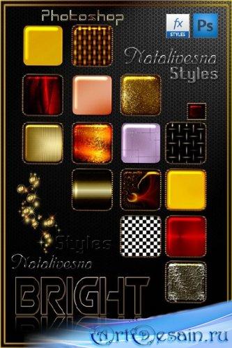 Яркие стили  для Photoshop  - Bright styles for Photoshop
