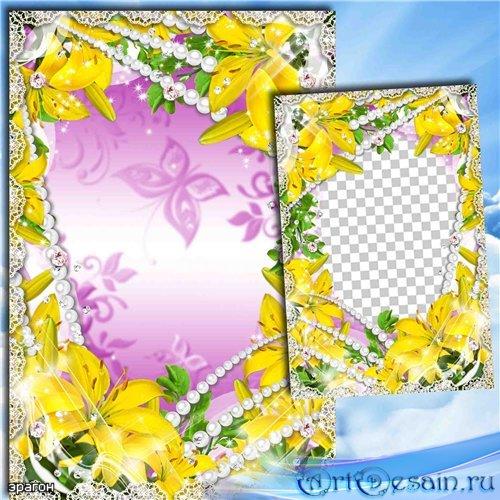 Цветочная рамка для фотошопа – Прекрасных лилий аромат