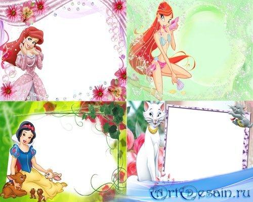 Рамки для фотошоп - Волшебная красавица