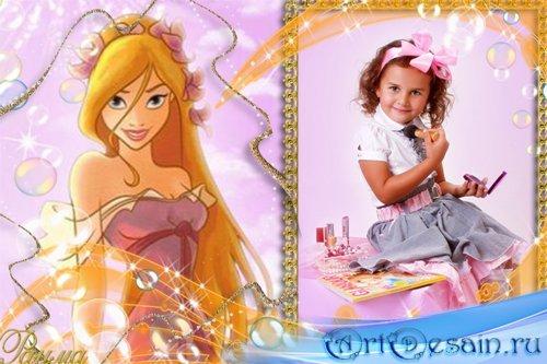 Детская рамка для фото с принцессой 011