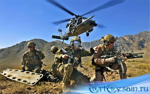 Шаблон мужской - военная разведка