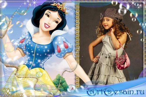 Детская рамка для фото с принцессой 02