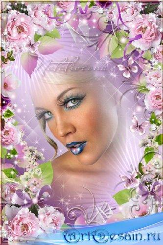Цветочная рамочка – Нежность пионов тебе так к лицу и лишь дополняет твою к ...