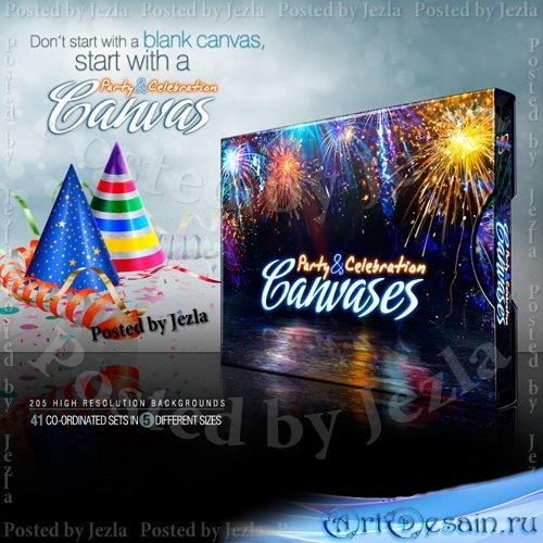 Коллекция праздничных фонов - Party and Celebration Canvases
