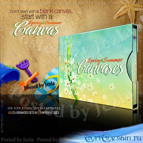 Коллекция фонов - Spring & Summer Canvases