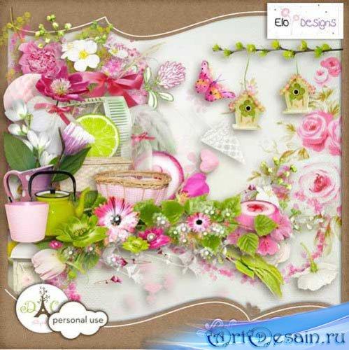 Нежный цветочный скрап - Жизнь гвоздики. Scrap - Life in pink