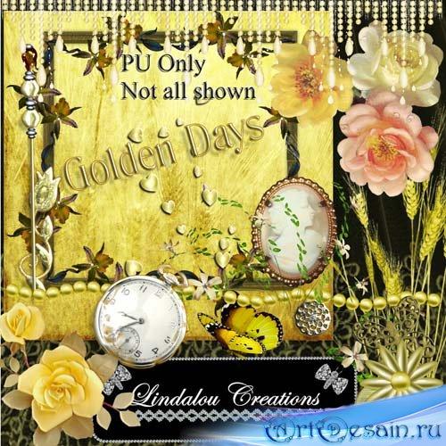 Скрап набор  Golden Days - Золотые дни