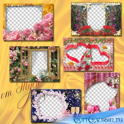 Коллекция рамок – Цветы нам дарят настроение - 3