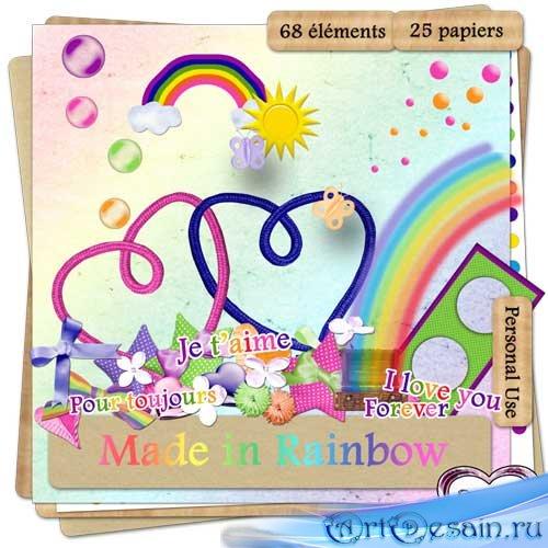 Скрап набор - Сделано на радуге. Scrap - Made in rainbow