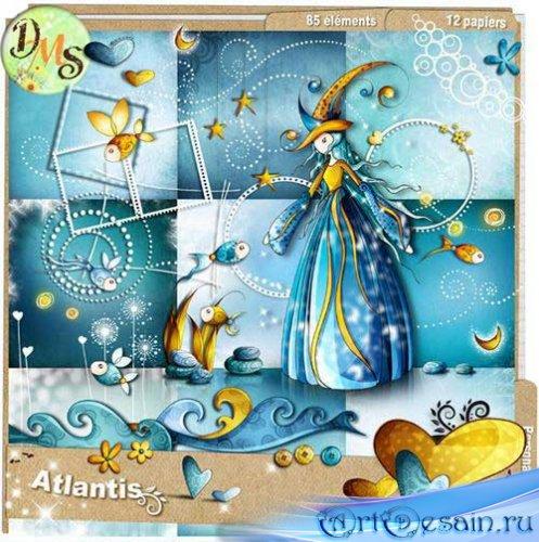 Красивый морской скрап-набор - Атлантида. Scrap - Atlantis