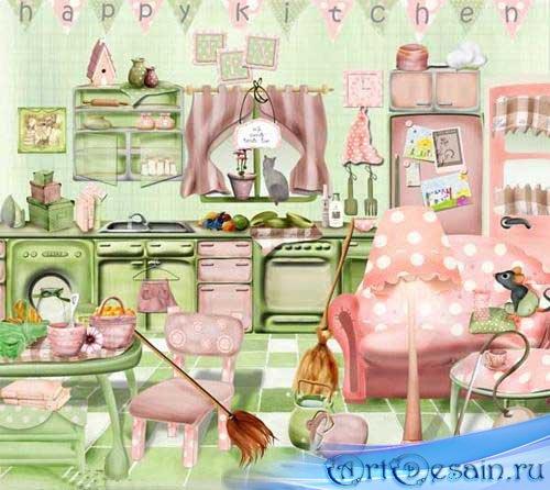 Скрап-набор - Моя кухня. Scrap - My kitchen