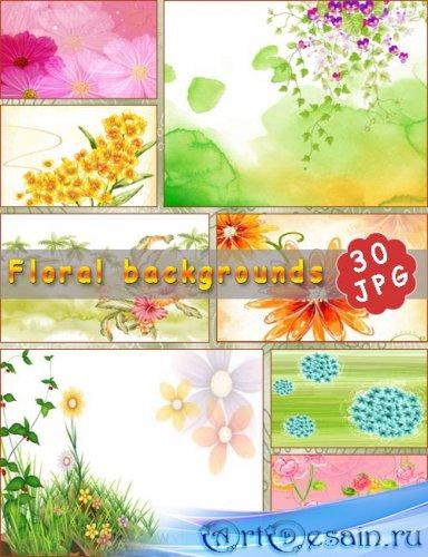Весёлые цветы - Фоны 3