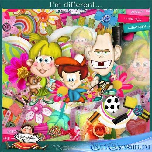 Детский рисованный скрап - Я особенный. Scrap - I`m Different