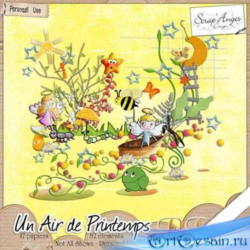 Скрап-набор - Воздух весны. Scrap - Un Air de Printemps
