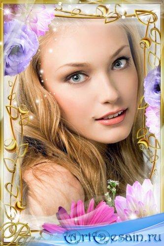 Красивая цветочная рамка для вас 30