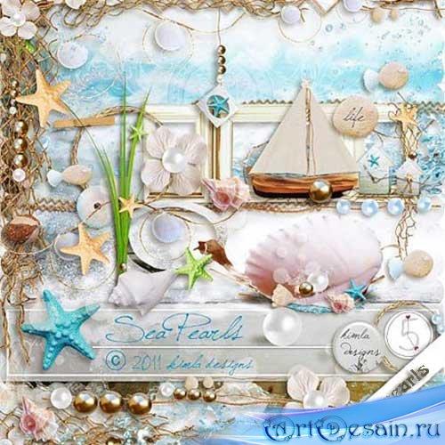 Скрап-набор - Морские жемчужины. Scrap - Sea Pearls