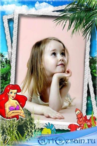 Детская рамка для фото - Ариэль