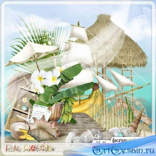 Морской скрап-набор - Карибские мечты. Scrap - Caribbean Dream