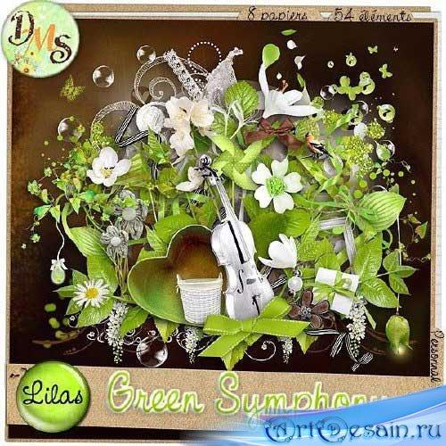 Весенний скрап-набор - Зеленая симфония. Scrap - Green Symphony