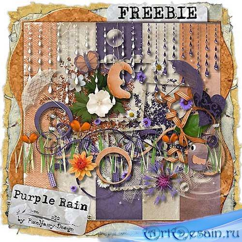 Скрап-набор - Фиолетовый Дождь.Scrap - Purple Rain