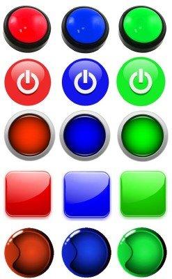 Веб psd кнопки для сайта