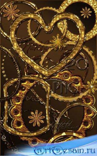 Золотые рамки – вырезы / Gold frames – cuts