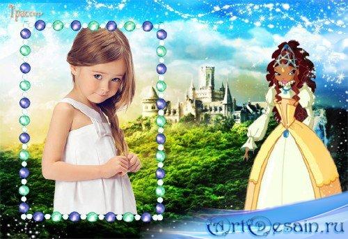 Рамочка для девочки  –  Винкс, Лейла, сказочная страна