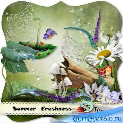 Детский рисованный скрап - Летняя свежесть. Scrap - Summer Freshness