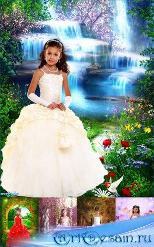 Коллекция детских шаблонов для девочек - Маленькие очаровательные принцессы ...