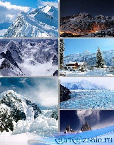 Растровый клипарт - Заснеженные вершины