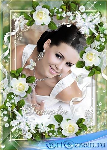 Рамки с белыми розами – Нежные... нежные, словно слёзы невинные Лепестки бе ...