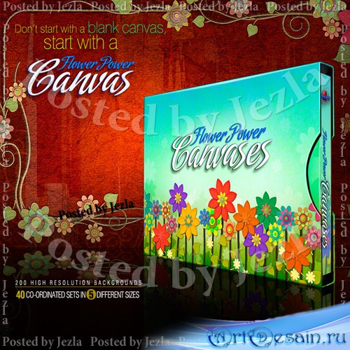 Коллекция фонов - Flower Power Canvases