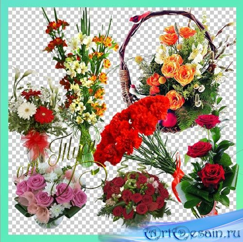 Клипарт – Дарите женщинам цветы необычайной красоты - 3