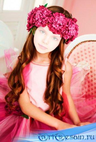 Шаблон детский - Маленькая принцесса