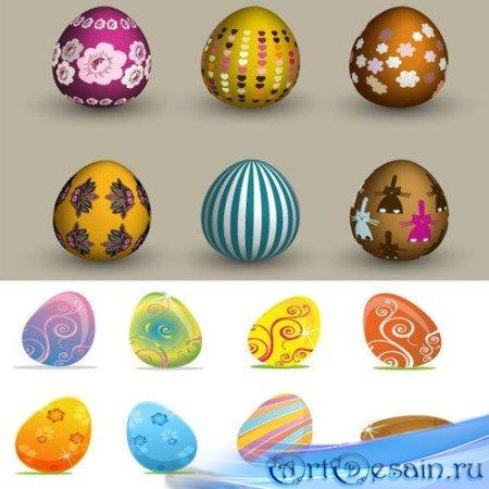 Пасхальные яйца в векторе
