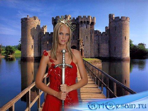 Шаблон для фотошопа женский - настоящая королева