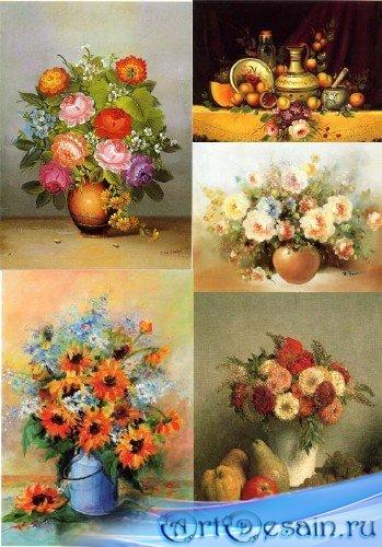 Букеты цветов - картины известных художников