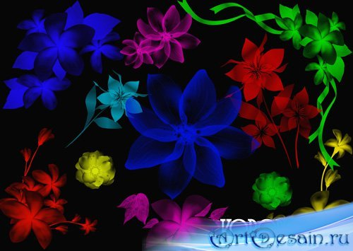 Кисти для фотошопа Цветочный орнамент