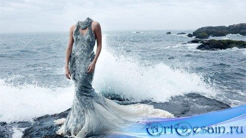 Шаблон для фотомонтажа - фотосет на море
