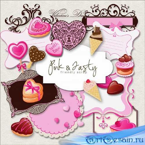 Скрап-набор - Розовый и вкусный. Scrap - Pink and tasty