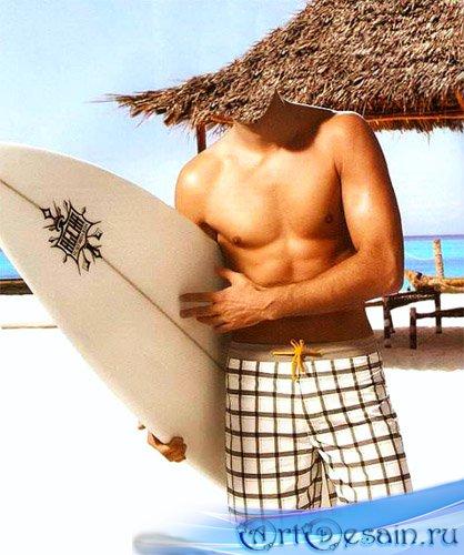 Шаблон мужской - лето на море