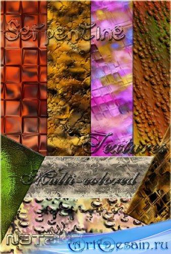 Текстуры разноцветный серпантин для Photoshop / Textures multi-colored serp ...