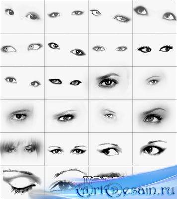 Кисти для фотошопа - Глаза