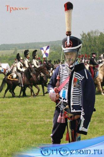 Шаблон мужской  – Мундир гусара XIX века, герой Бородинской битвы