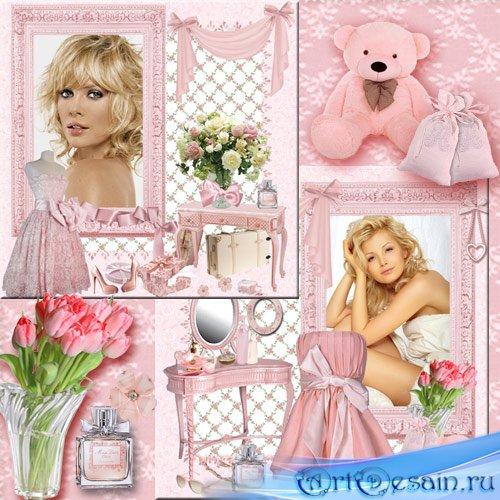 Рамка для фото - Розовый будуар