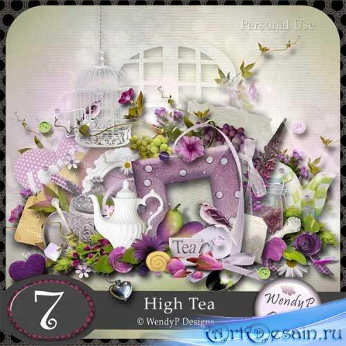 Симпатичный скрап-набор - Вечерний чай. Scrap - High Tea