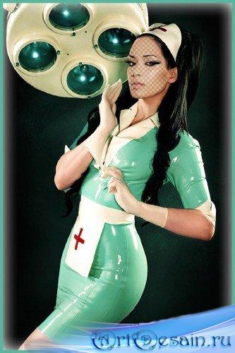 Женский фотошаблон - Старшая медсестра