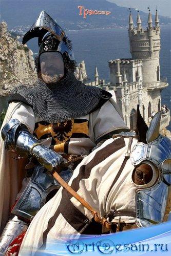 Шаблон мужской  – Тевтонский рыцарь на коне, XII век