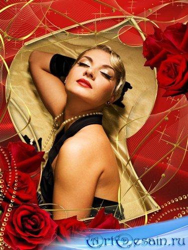 Фоторамка - Бархатная роза
