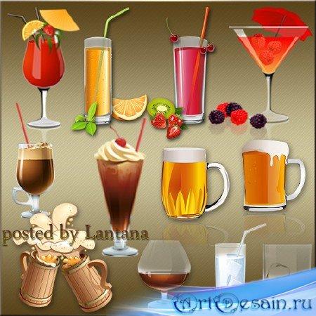 Клипарт на прозрачном фоне - Прохладительные напитки